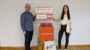 Unser Bild zeigt von links nach rechts: Werner Peters, Bürgerdienst Lepper e.V., und Luisa Giefer, DRK Deutsches Rotes Kreuz, Kreisverband Vulkaneifel DAUN